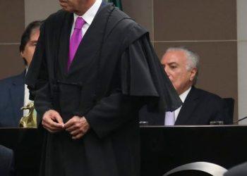 O novo presidente do Tribunal de Contas da União (TCU), José Múcio Monteiro Filho, durante solenidade de posse, na sede do TCU.