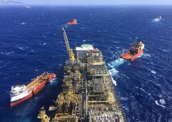 O FPSO P_76 começou a produção em meados de  fevereiro. Foto: Agência Petrobras