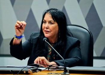 A senadora Rose de Freitas, autora do projeto, em sessão do Senado / Foto: Marcos Oliveira/Agência Senado