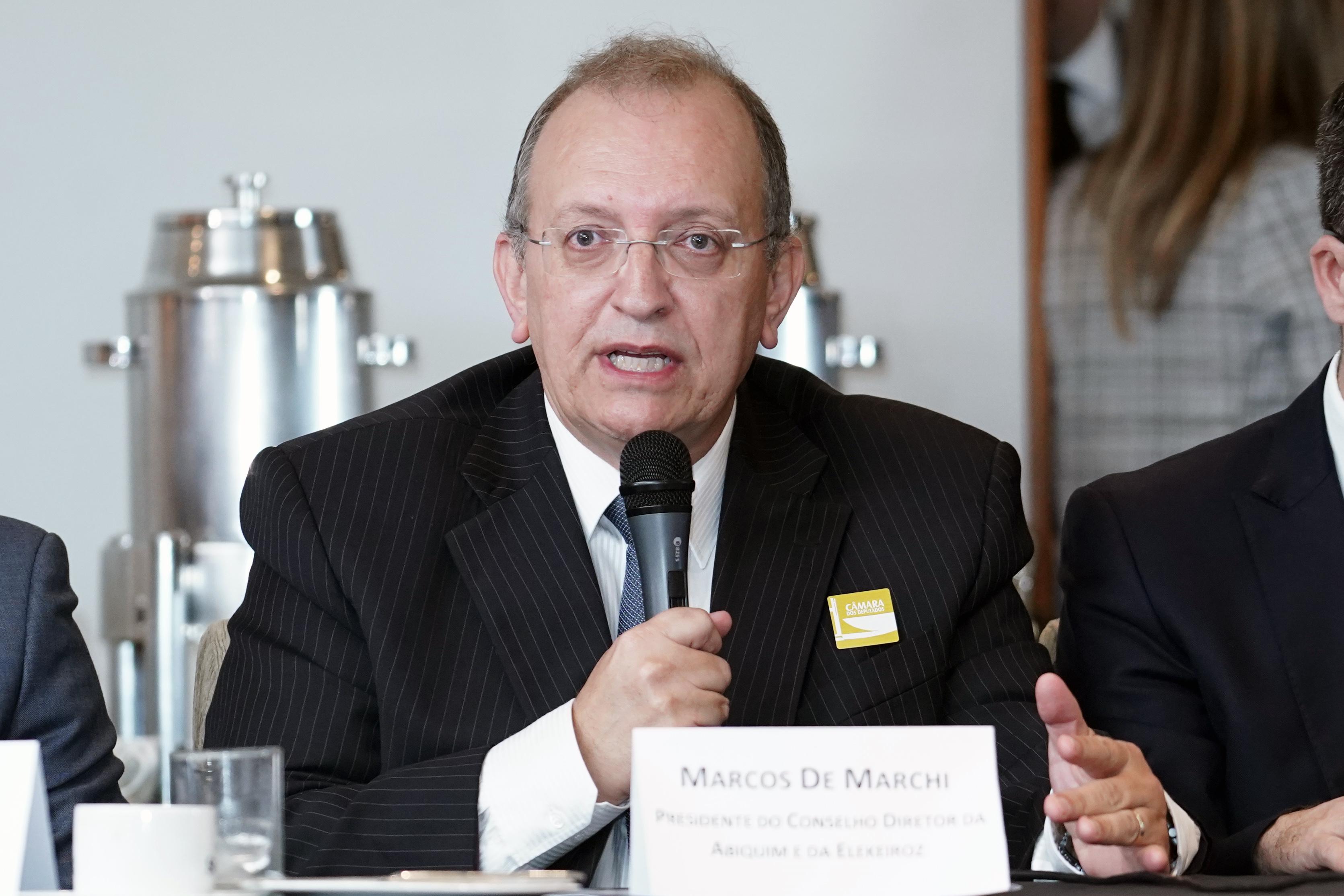 Presidente do Conselho Diretor da Associação Brasileira da Indústria Química (Abiquim), Marcos De Marchi