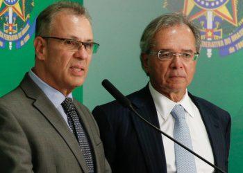 (Brasília - DF 16/04/2019) Coletiva de imprensa com o ministro da Fazenda, Paulo Guedes e o Ministro de Minas e Energia, Bento Albuquerque. Foto: Anderson Riedel