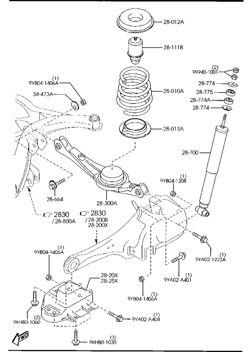 small resolution of rear suspension mechanism 2wd