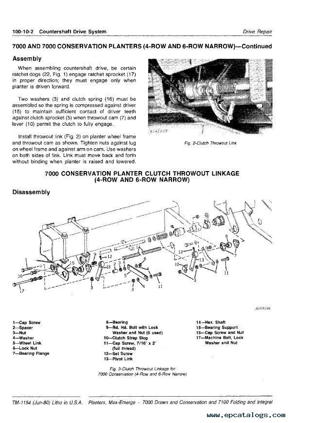 John Deere 7000 Planter Parts Diagram : deere, planter, parts, diagram, Deere, Planters, TM1154, Technical, Manual