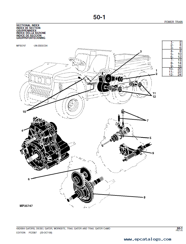 John Deere Gator 6x4 Parts Diagram : deere, gator, parts, diagram, Deere, 4x2/6x4, Gas/Diesel, Gator, Utility, Vehicle, Parts, Catalog