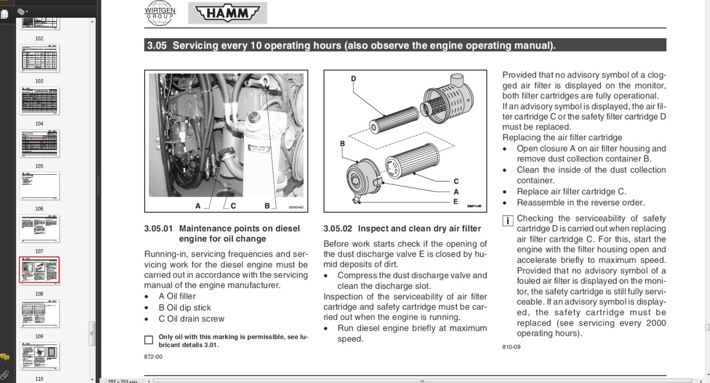2210sd Hamm Roller Service Manual