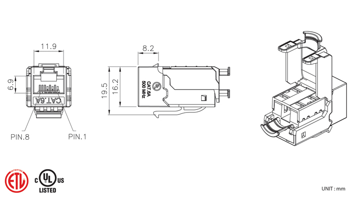 t568b cat 5e jack wiring diagram