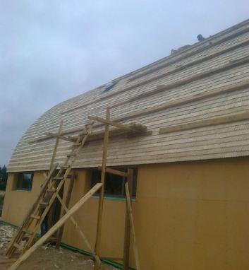 Dach półokrągły z wióra