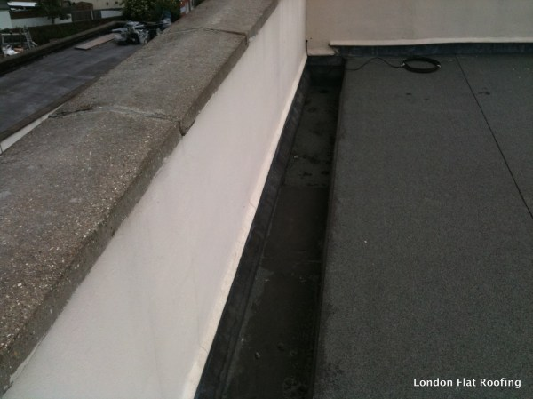 Leaking Parapet Walls Epdm Rubber And Liquid Flat Roofs