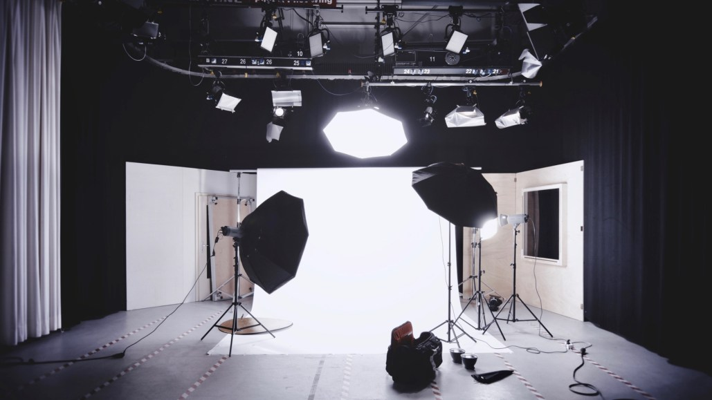 Video and photography studio set