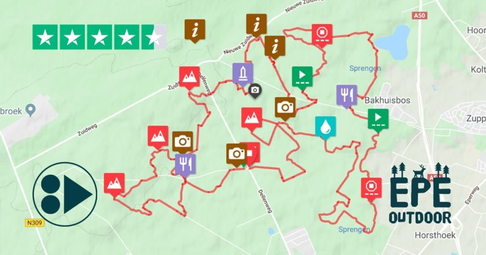 MTB route De Vos
