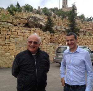 Le père Joseph NAssar, Recteur de l'Hôtel Dieu et le pasteur Pierre LAcoste
