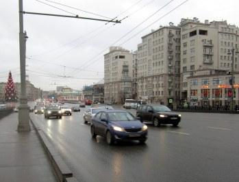 Moskovan kaduilla riitti liikennettä