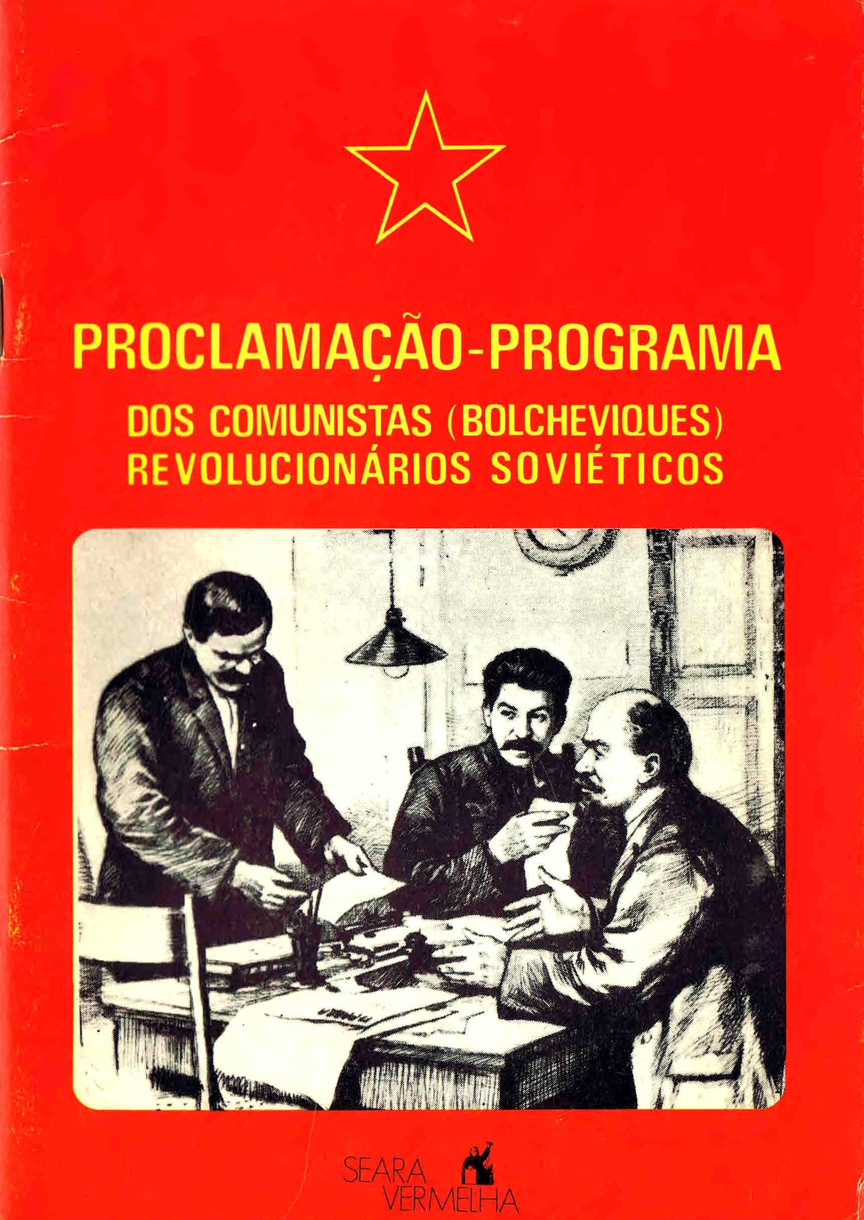 programaçao-programa dos comunistas (bolcheviques) revolucionarios sovieticos