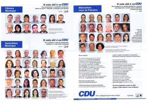 ELEIÇÕES AUTÁRQUICAS DE 2013 – MATOSINHOS – CDU – EPHEMERA ... fc7dd89554894