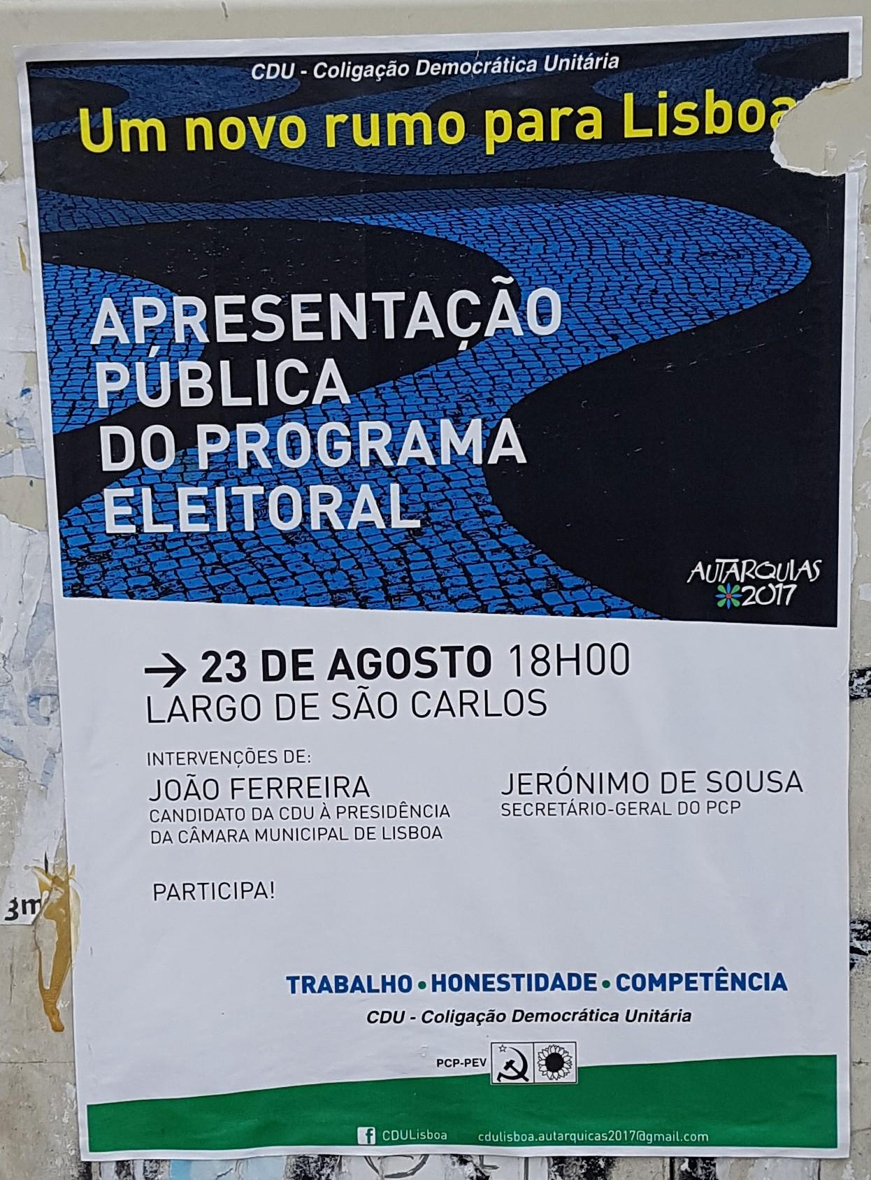 CDU 2017 Lisboa