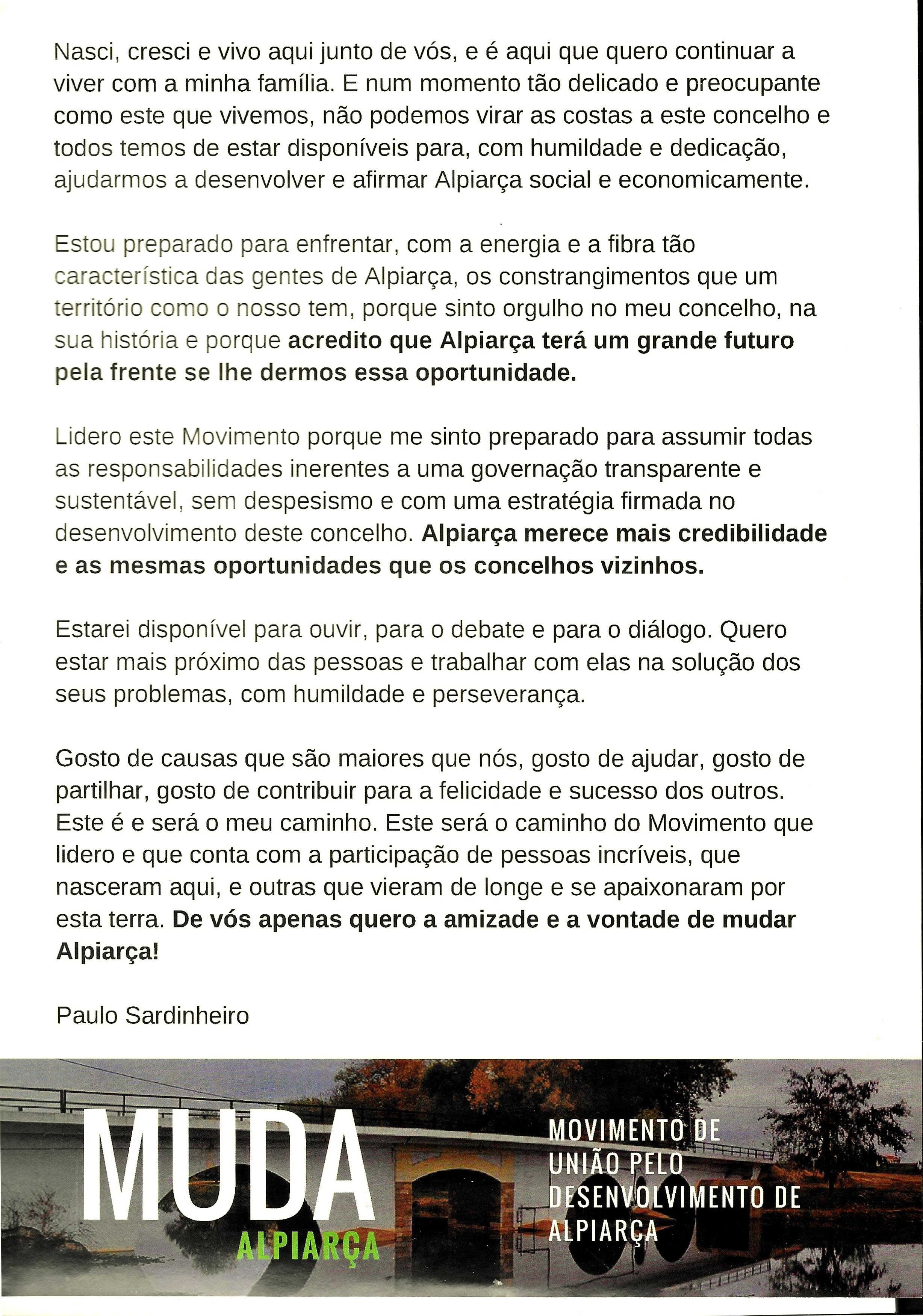 MUDA ALPIARÇA 2017 VS