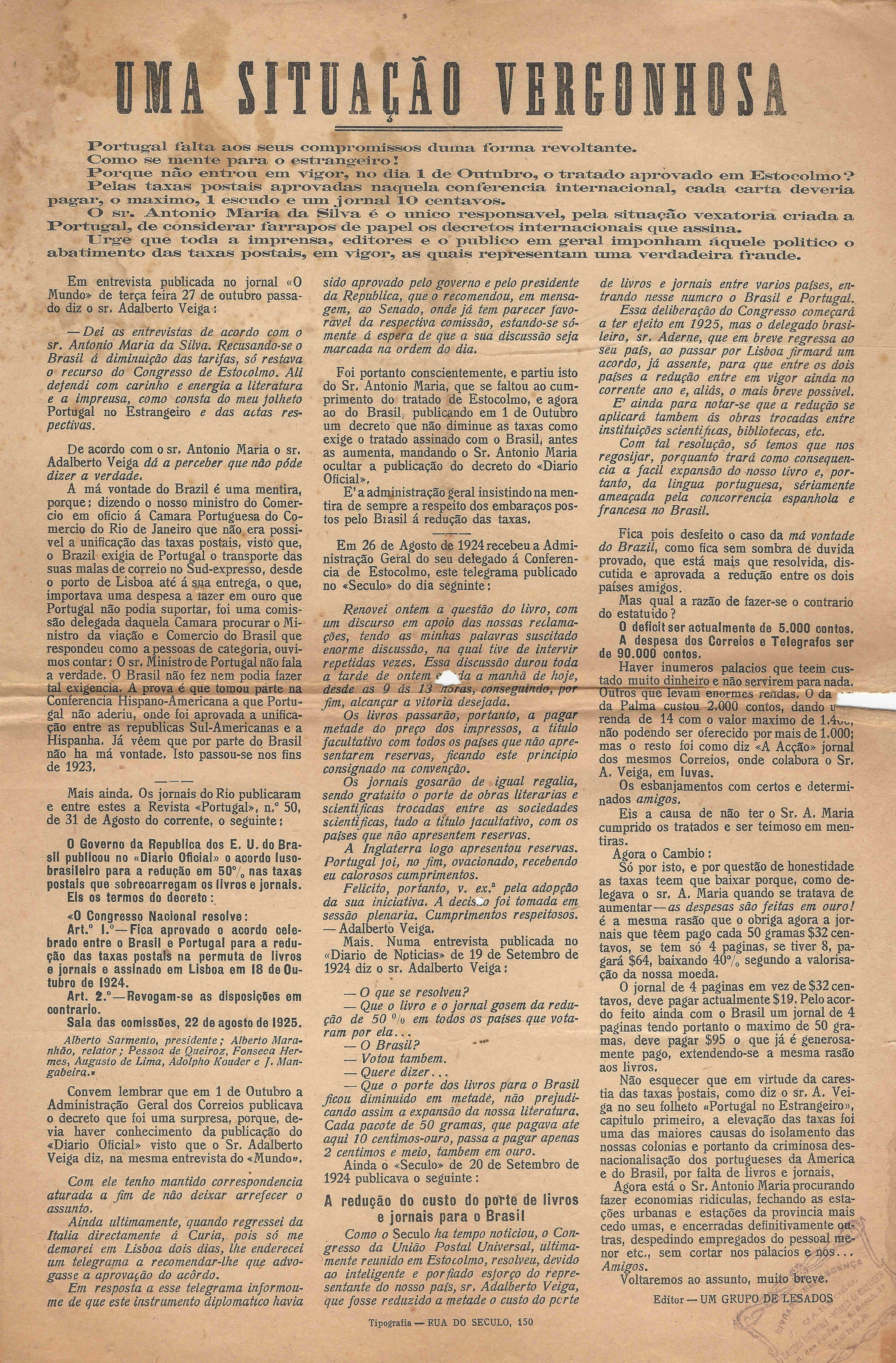 Um grupo de lesados uma situao vergonhosa 1925 ephemera um grupo de lesados uma situao vergonhosa 1925 fandeluxe Gallery