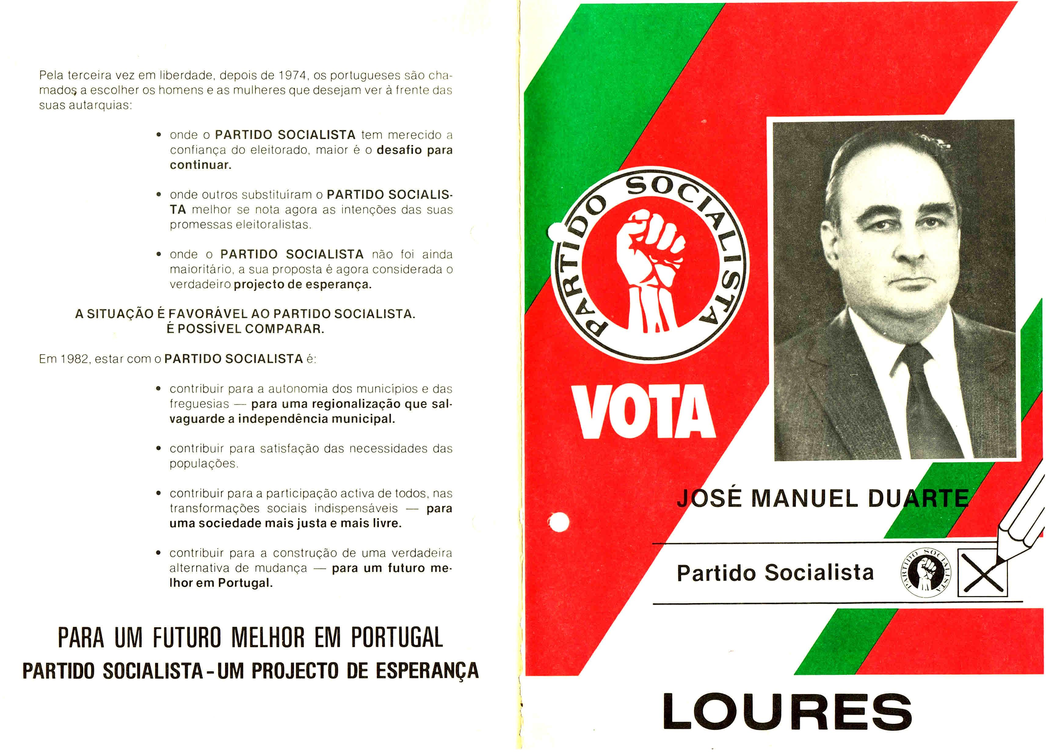 PS LOURES AUTÁRQUICAS 1982 1
