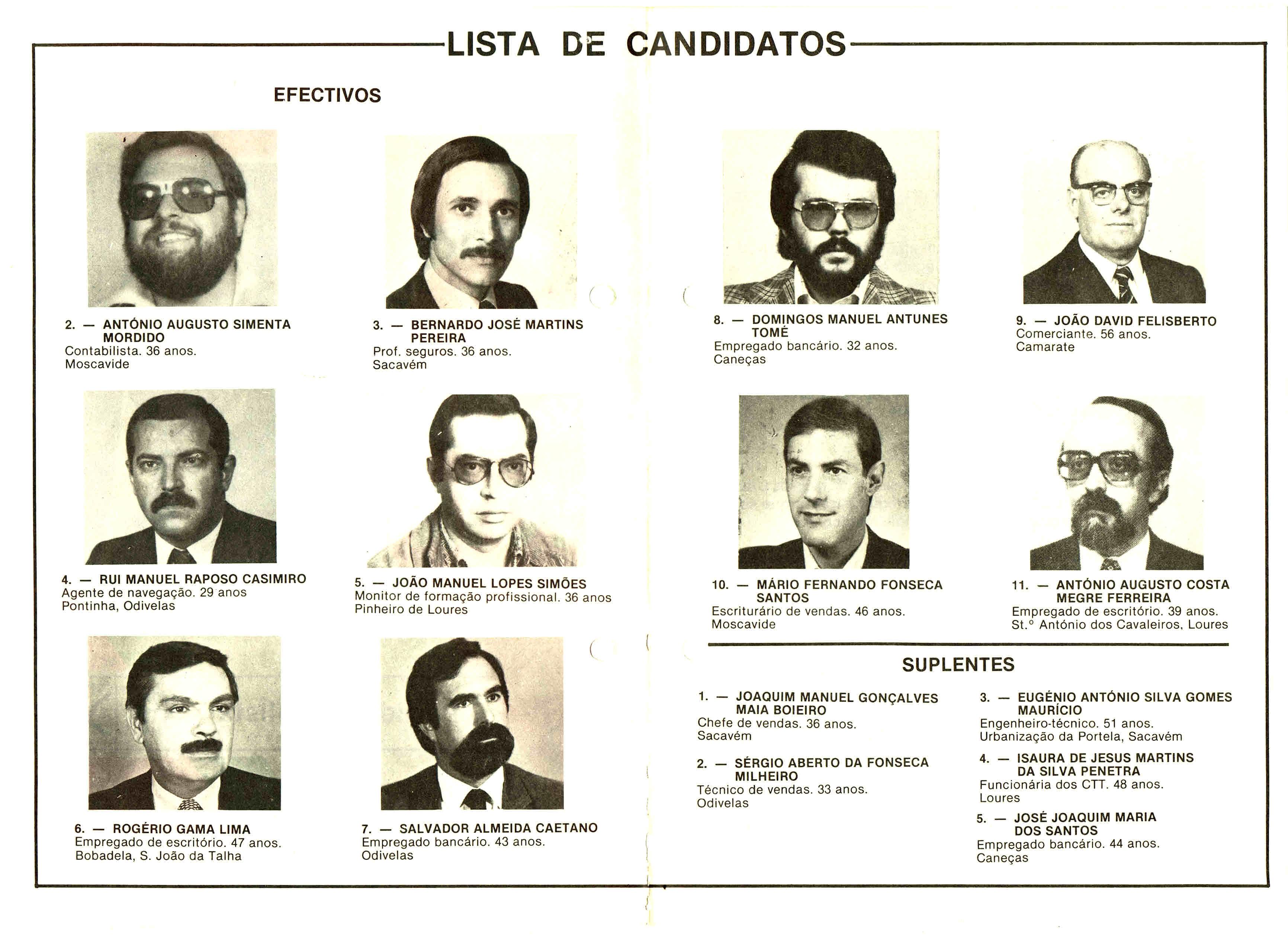 PS LOURES AUTÁRQUICAS 1982 2