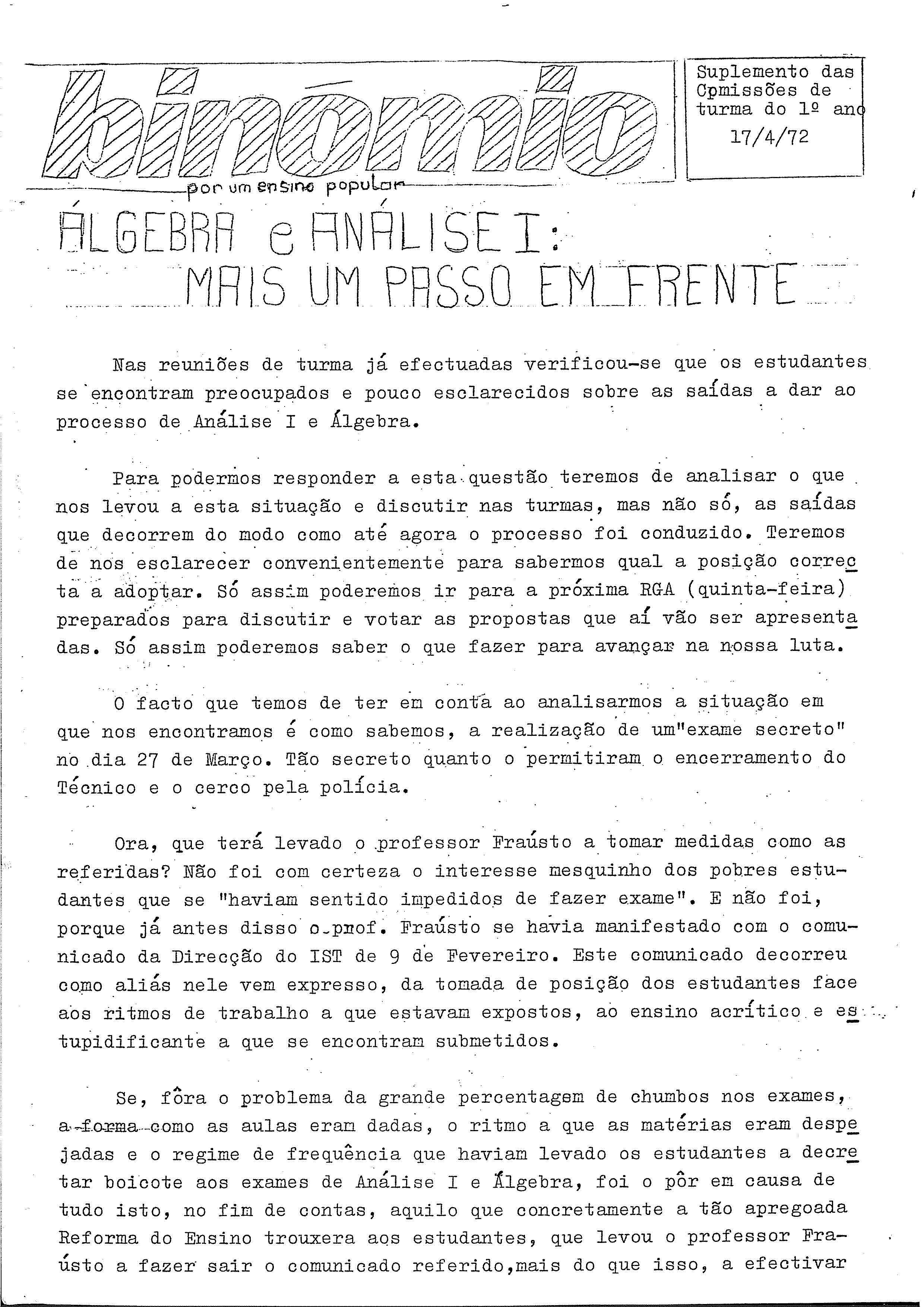 Copy of Binómio – 17-4-72