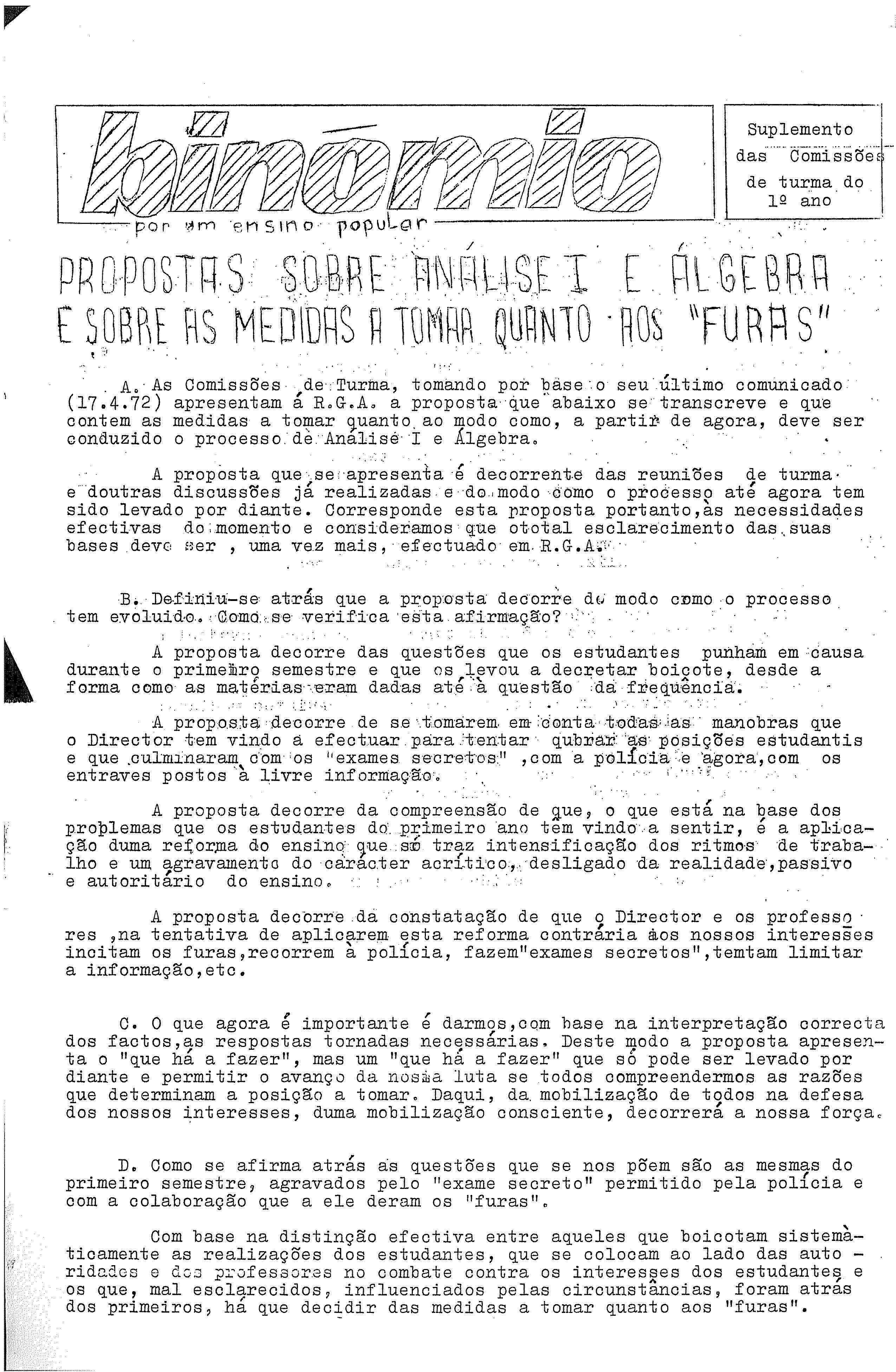 Copy of Binómio – Suplemento 1º ano