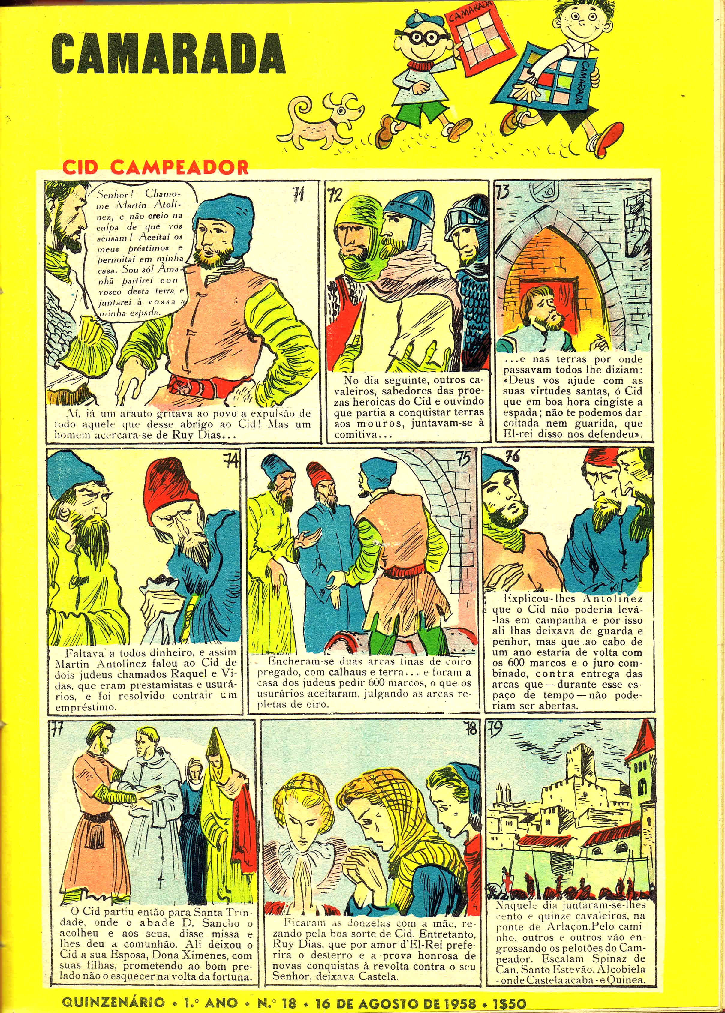 camarada mocidade portuguesa nº 18 1958