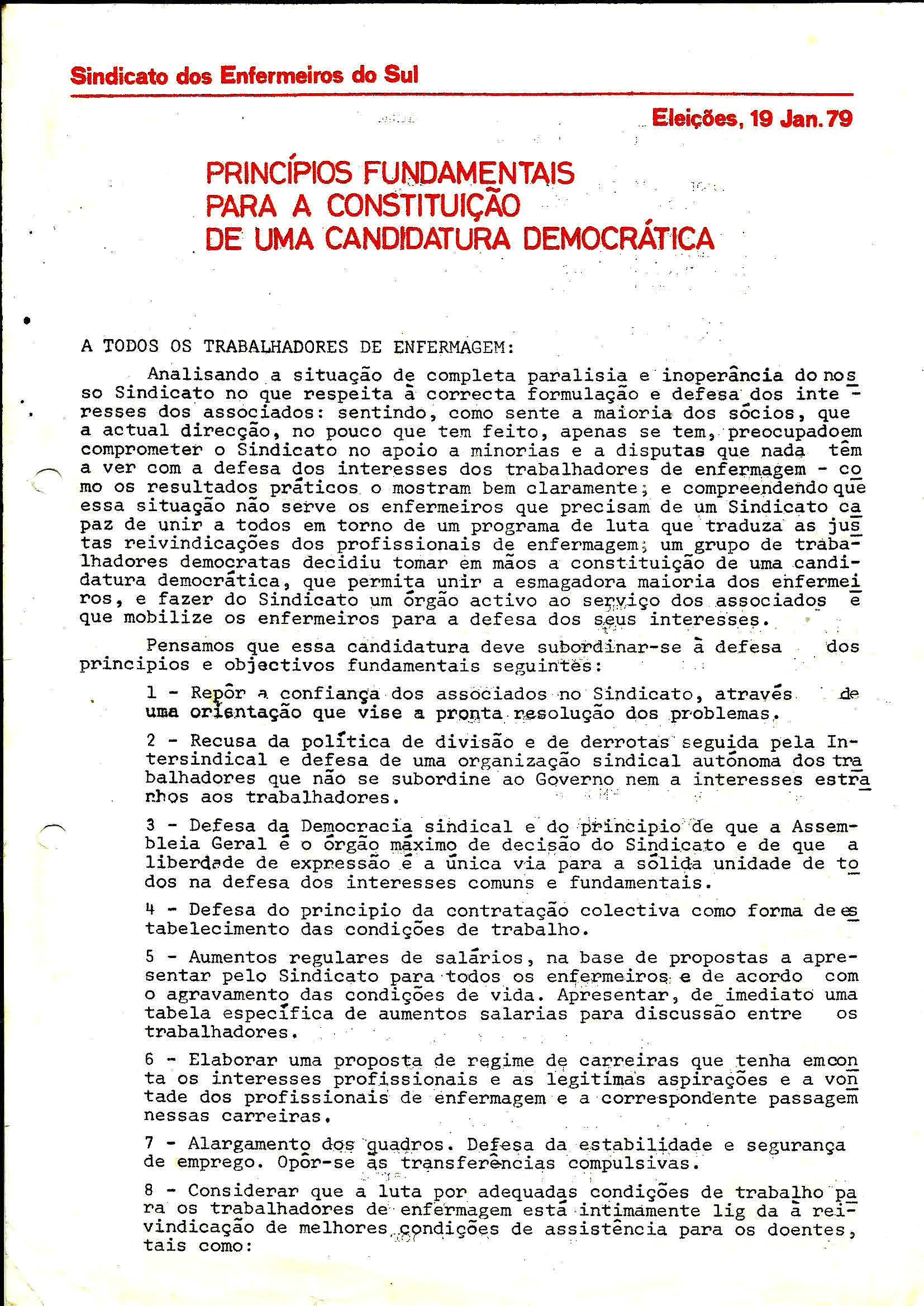 1 Sind Enferm do Sul Eleiçoes Janeiro 1979 1
