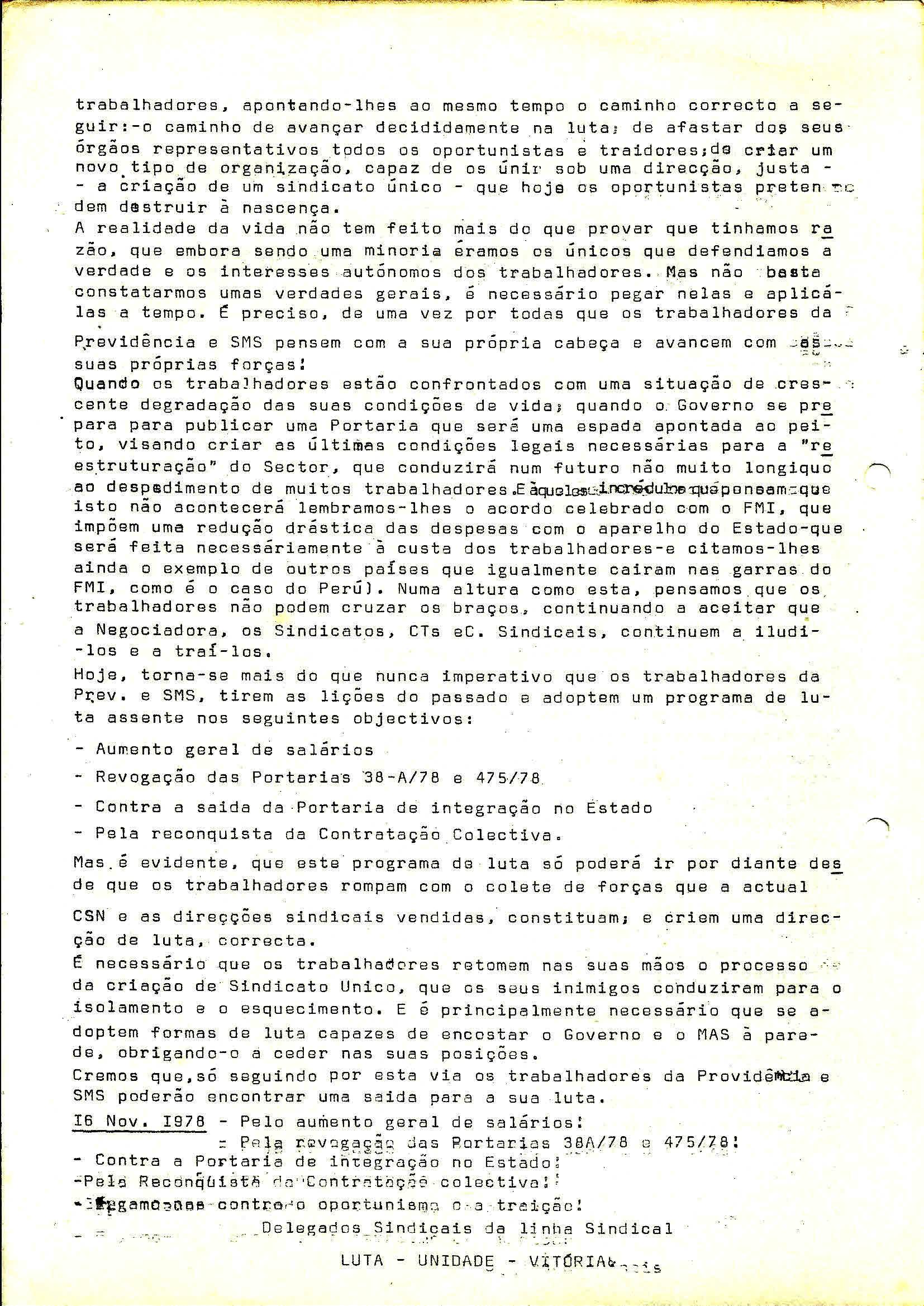4 Sind Trab Previdência Aumento Salários Novembro 1978 2