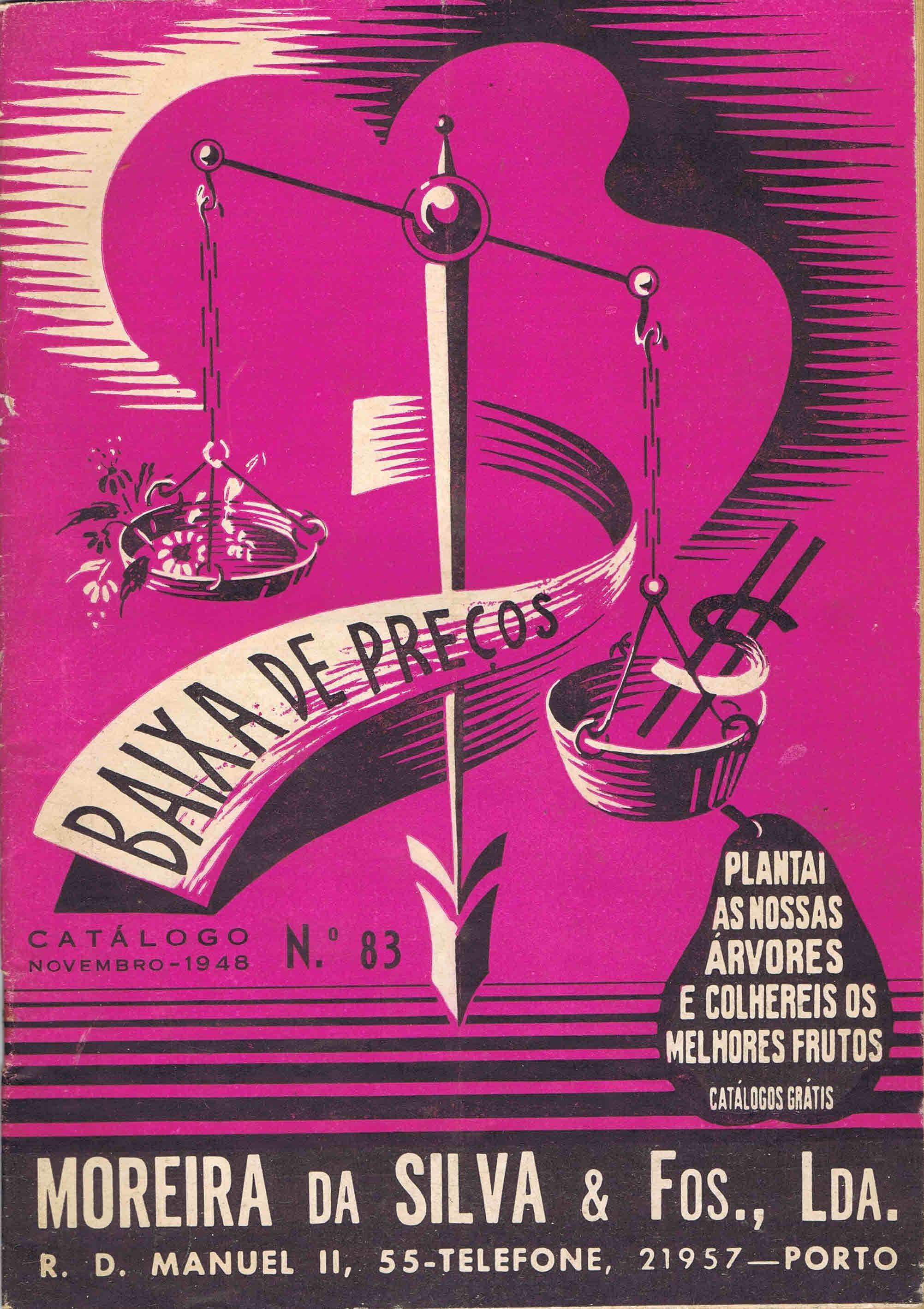CATALOGO HORTICOLA MOREIRA DA SILVA & Fos Lda nº 83 1948