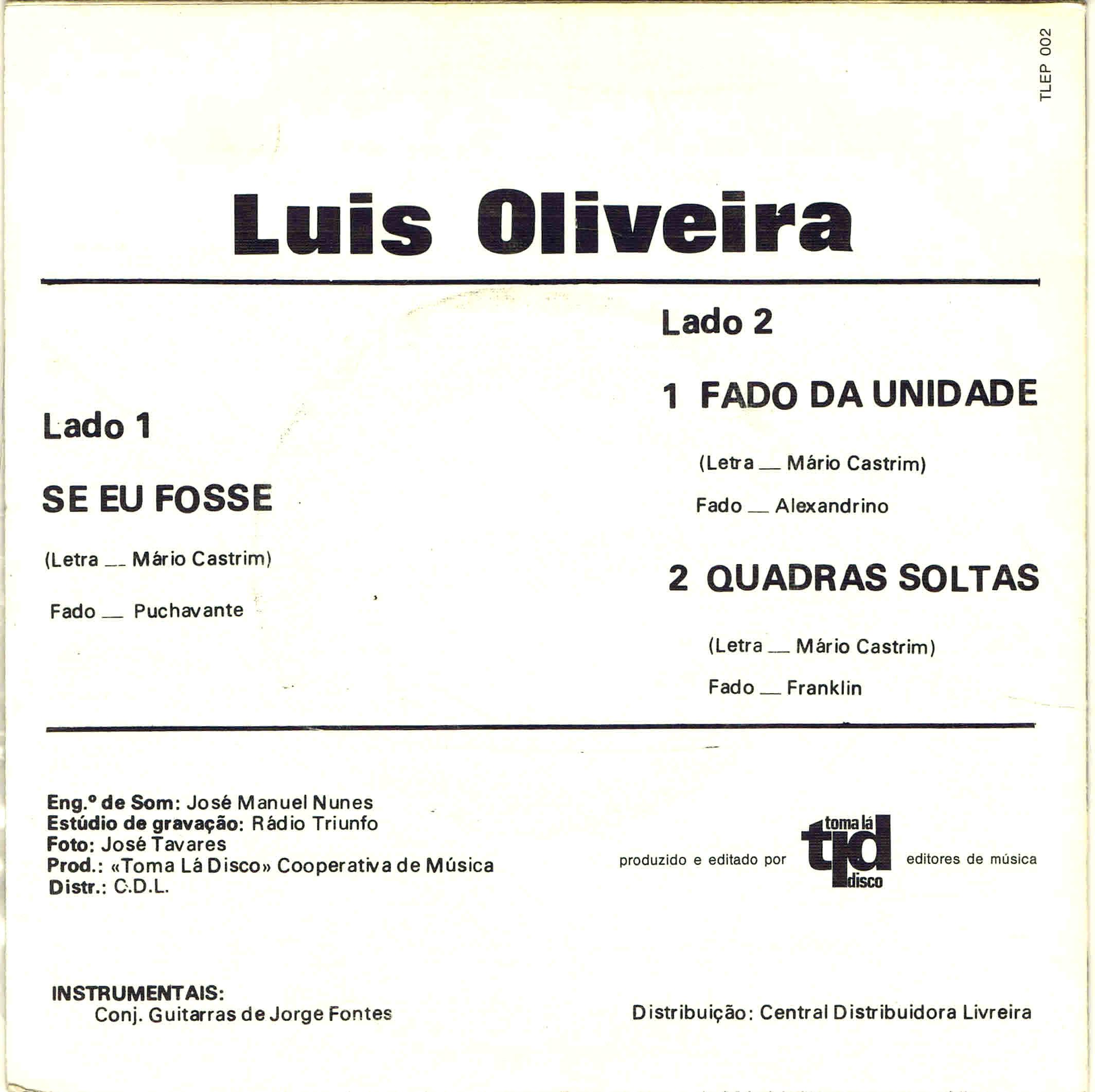 luis oliveira o fadista do dl vs