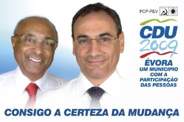 Cartaz eleições autárquicas, CDU Évora