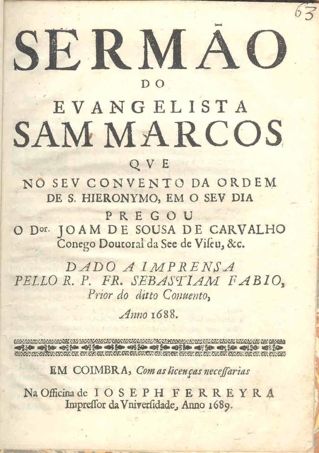 Oraçam funebre nas exequias annuaes do serenissimo rey de Portugal Don  Manuel de gloriosa memoria dissea o P.M. Fr. Fernando de S. Augustinho 1b8b6c4e996e7