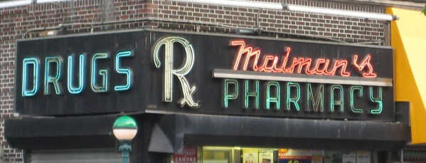 Pharmacy Old Store Signs