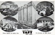 Taft Hotel Nyc Ephemeral York