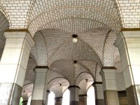 Vaulted ceiling loveliness outside a city building ...