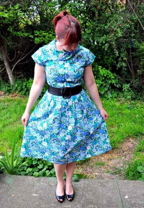 Day 26 – Frocktober 2011 – Peep-toes and Cowl Necks ahoy!