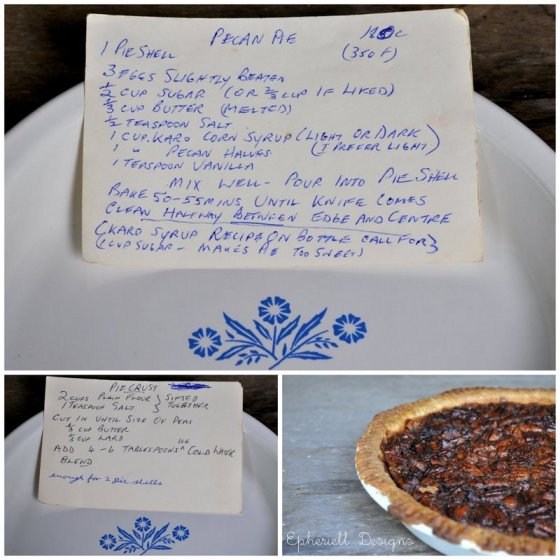 Granny's Pecan Pie ~ Recipe