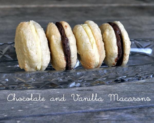 My First Macarons ~ Chocolate and Vanilla