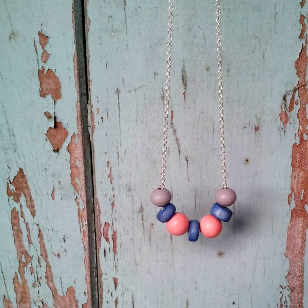 Pastel Blue and Pink Necklace (6)