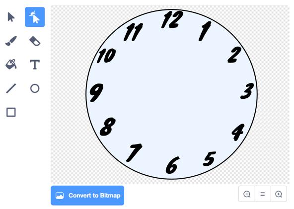 [Scratch] 運轉的時鐘 (Running Clock) | EPH 的程式日記