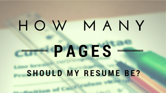 how many pages should my resume be and 12 principles behind that