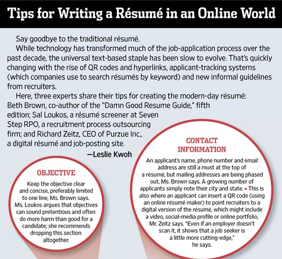Resume Infographic #02: Tips for Writing a Resume in an Online World