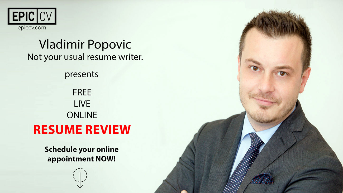 schedule your free resume review now epic cv