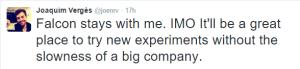 Falcon Pro Creator Joining Twitter - Keeping Falcon