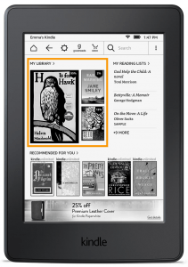 Amazon Kindle New Home Screen