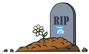 ES File Explorer Tombstone