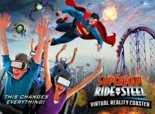 Superman Virtual Reality Roller Coaster Ride