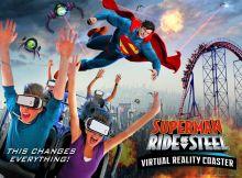 Superman Virtual Reality Roller Coaster Ride