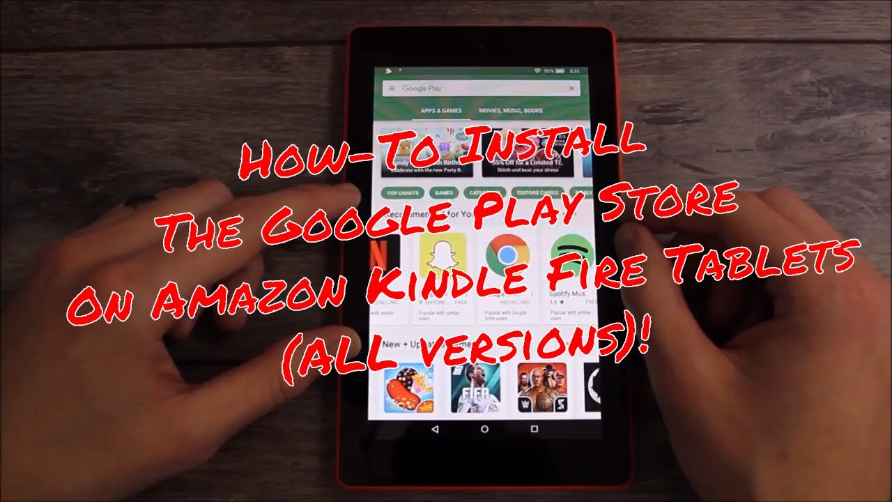 can you put google play store on amazon fire tablet