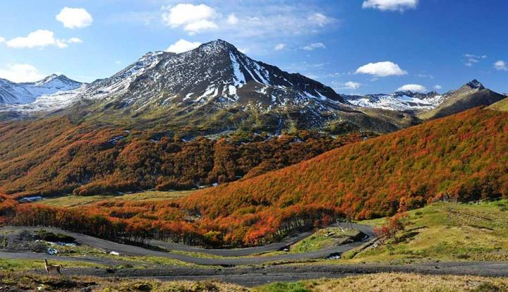 Paisaje de la provincia mas austral del país, Tierra del Fuego.